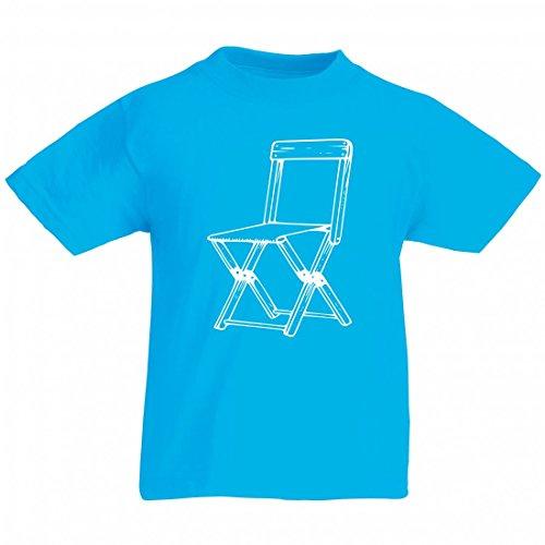 Camiseta de campamento, de lona, silla, pliegues, muebles, bisagras, etc., madera en color azul, para hombre, mujer y niños, 104-5XL