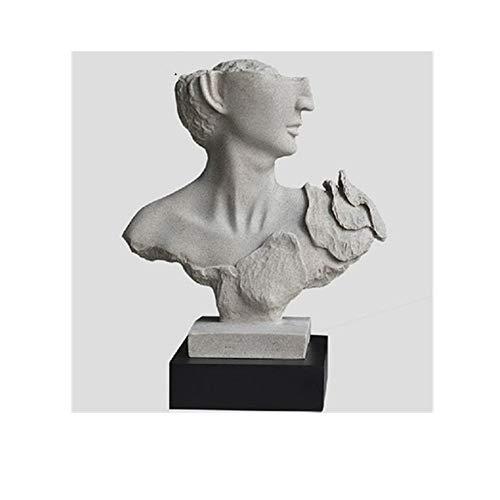 AJLNSL Estatua Cabeza Escultura Escultura Figura Europea Decoración Arte Abstracto Decoración Artesanía Creativa Decoración del Hotelcarácter Estatuas