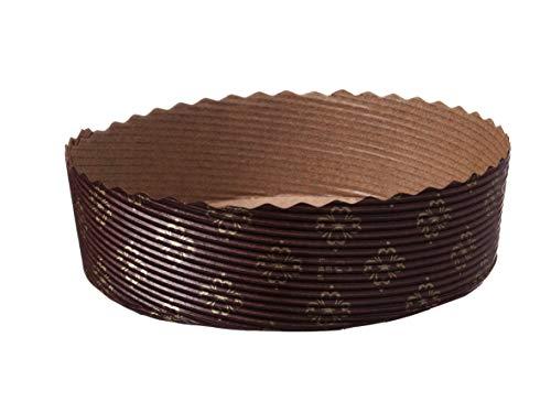 300 Einwegbackformen Einmal Papierbackformen Backformen Papier rund Ø120mm 35mm hoch mit Backtrenn Funktion - Inkl. Verpackungslizenz in D