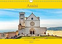 Assisi - Mittelalterliches Herz Italiens (Wandkalender 2022 DIN A4 quer): Assisi, Geburtsort des Heiligen Franziskus und Weltzentrum der Spiritualitaet. (Monatskalender, 14 Seiten )