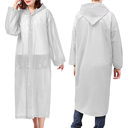 LINKLANK Multifunctional Lightweight Raincoat,Raincoat For Adult Non-Disposable Waterproof EVA Raincoat Rain Poncho Lightweight Transparent Raincoats For Hiking Camping Outdoors
