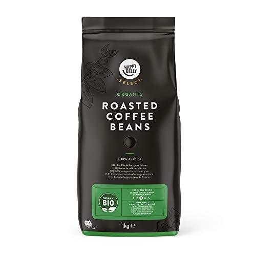 Marque Amazon - Happy Belly Select Grains de café torrefiés bio, 2x1kg