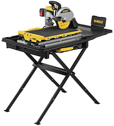 cheap DEWALT wet tile saw, with stand, large capacity, 10 inches (D36000S)