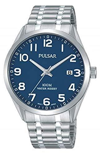 Pulsar Herren Analog Quarz Uhr mit Edelstahl Armband PS9561X1