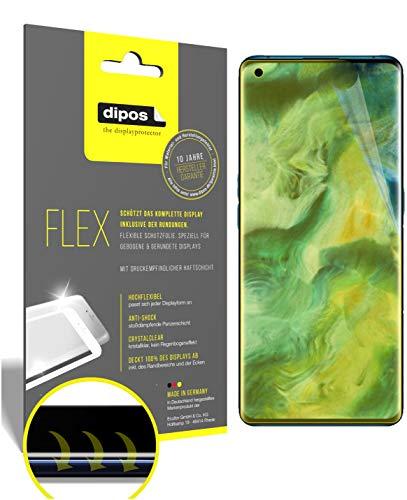 dipos I 2X Schutzfolie 100prozent kompatibel mit Oppo Find X2 Pro Folie I Full Cover 3D Bildschirmschutz-Folie