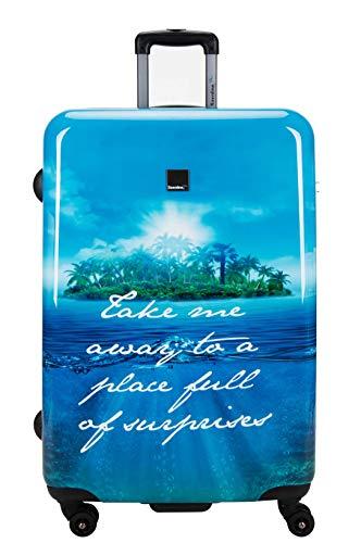 Saxoline Blue Koffer Hartschale Island Größe L TSA