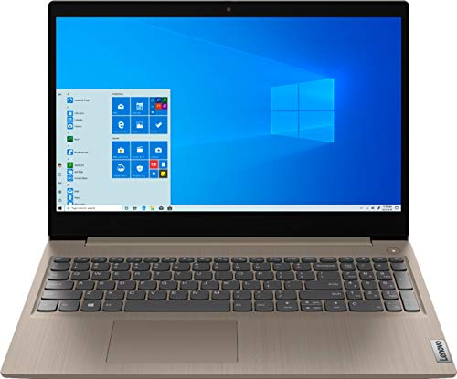 2020 Newest Lenovo IdeaPad 3 15' HD Touch Screen Laptop, Intel 10th Gen Dual-Core i3-1005G1 CPU, 8GB DDR4 RAM, 256GB PCI-e SSD, Webcam, WiFi 5, Bluetooth, Windows 10 S - Almond