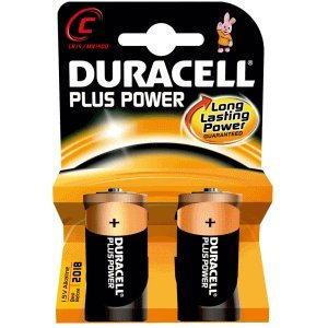 Duracell DUR019089 Household Battery Single-Use Battery C Alcalino 1,5 V - Pilas (Single-Use Battery, C, Alcalino, Cilíndrico, 1,5 V, 2 Pieza(s))