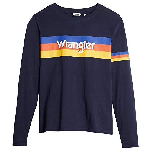 Retro Wrangler Stripes Logo Sweatshirt for Ladies, XS to M