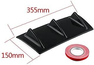 Lanceasy ACOPLE 1 par 35cm de Coche Universal del Tope Posterior del aler/ón Volver Veh/ículo de Labios Wrap Negro /Ángulo