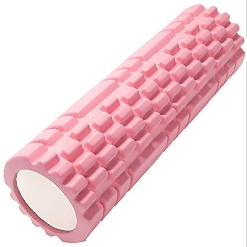gexu Pilates Rolle Inkl Yoga Säule - Rosa Faszienrolle Sport Schaumstoff Rolle Multifunktionale Schaumstoffrolle eignet Sich ideal für Muskelkräftigung, Fitness und Massage der Faszien.