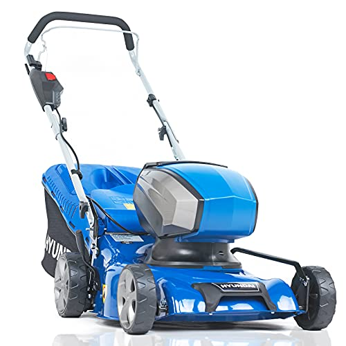 Hyundai 40v Lithium-ion Cordless Battery Powered Lawn Mower 42cm Cutting Width 45L Grass Bag With Battery & Charger Mowers & Outdoor Power No assembly needed 3 Year Platinum Warranty