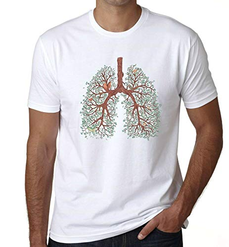 tianmen Tree Lung T Shirt Roots Nature Forest Yoga Mediation Gym