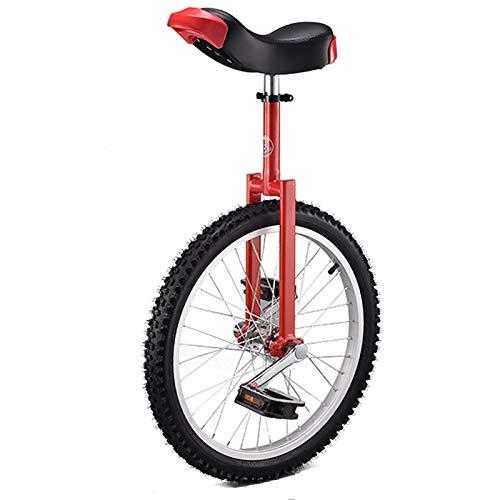 SSZY Einrad Kinder/Kind/Einrad (20inch Rad), Jungen/Mädchen 8/10/12/14 Jahre alt Waage Fahrrad, höhenverstellbar Fahrräder, Höhe 4.6-5.4ft (Color : Red)
