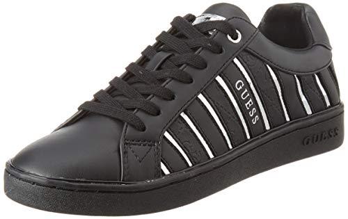 Guess I-Bolier, Zapatillas para Mujer, Multicolor (Black & Silver BLKSI), 39 EU