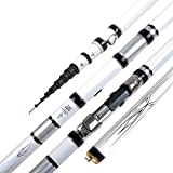 WUJIEXIAN-JXL 99% pêche Carbone télescopique Rod Reel Ligne de Sac de pêche Canne à pêche Combo Set Pêche Matériel de pêche (Color : Blanc, Size : 4.5)