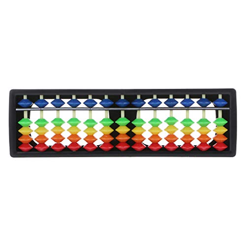 NKYSM Abakus soroban kunststof 13 kolom met kleurrijke parels, rekenmachine, teller, voor wiskunde, beginners, studenten, schrijfwaren, cadeau