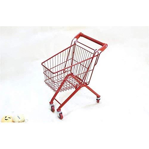 Carrito de supermercado Plegable y Ligero Carrito de Compras multifunción Carro Infantil Carretilla de Carrito Supermercado Trolley Toy Color Color Chica Jugando (Color : Red)