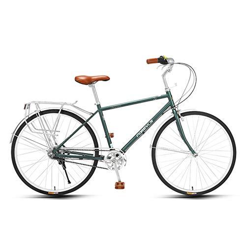 JKCKHA Bicicleta De Ciudad para Hombres, Híbrida De 5 Velocidades, para Uso Urbano.