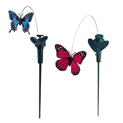Homyl Tanzender fliegend Solar Schmetterling der Hingucker für Garten Balkon Deko