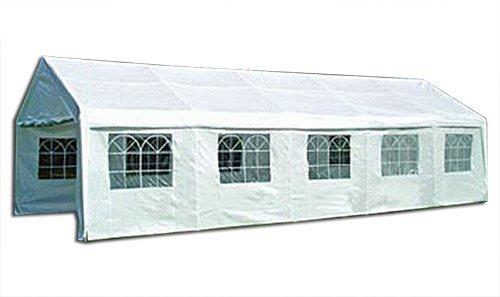 KMH®, Riesiges weißes 8 X 4 Meter Festzelt mit extra dickem Stahlgestänge (#303022)