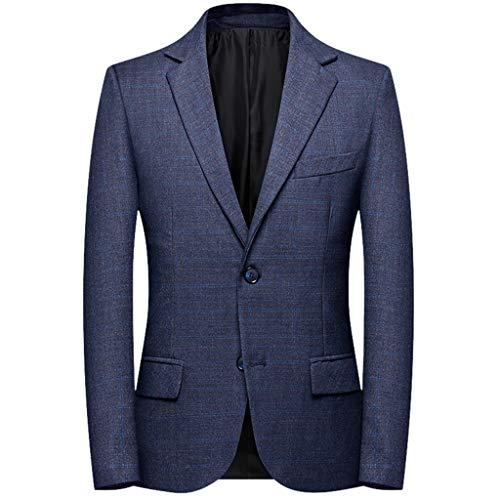 CLOOM Giacche Uomo, Blazer Uomo Classica Giacche Blazer da Uomo, Blazer d'Affari Outwear Elegante Blazer Vestito, Blazer Uomo Abito Uomo Completo Blazer Giacche da Uomo Slim Fit Blazer