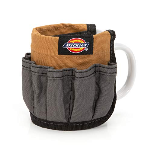 Dickies Canvas Mug Organizer Gift for Contractors, Woodworkers, and Painters, 14 Pockets for Pens, Pencils, and Other Small Desk Items
