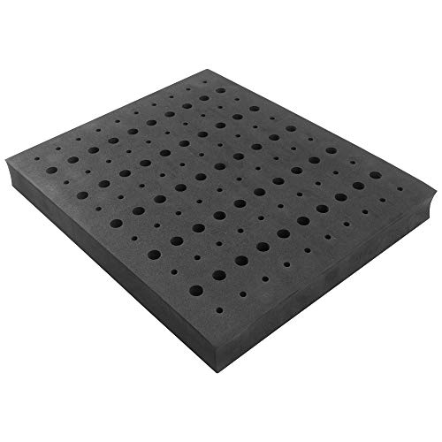Router Bit Storage Tray - Foam Material for Safe Router Bit Storage, 1-5/16 inch Thick and Stores 60 1/4 inch and 50 1/2 inch Shank Router Bits