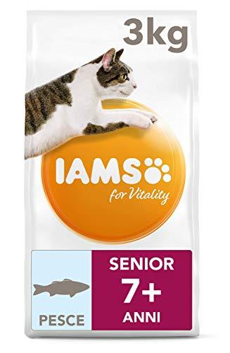 IAMS for Vitality Cibo Secco, con Pesce Oceanico, per Gatti Anziani, 3 kg