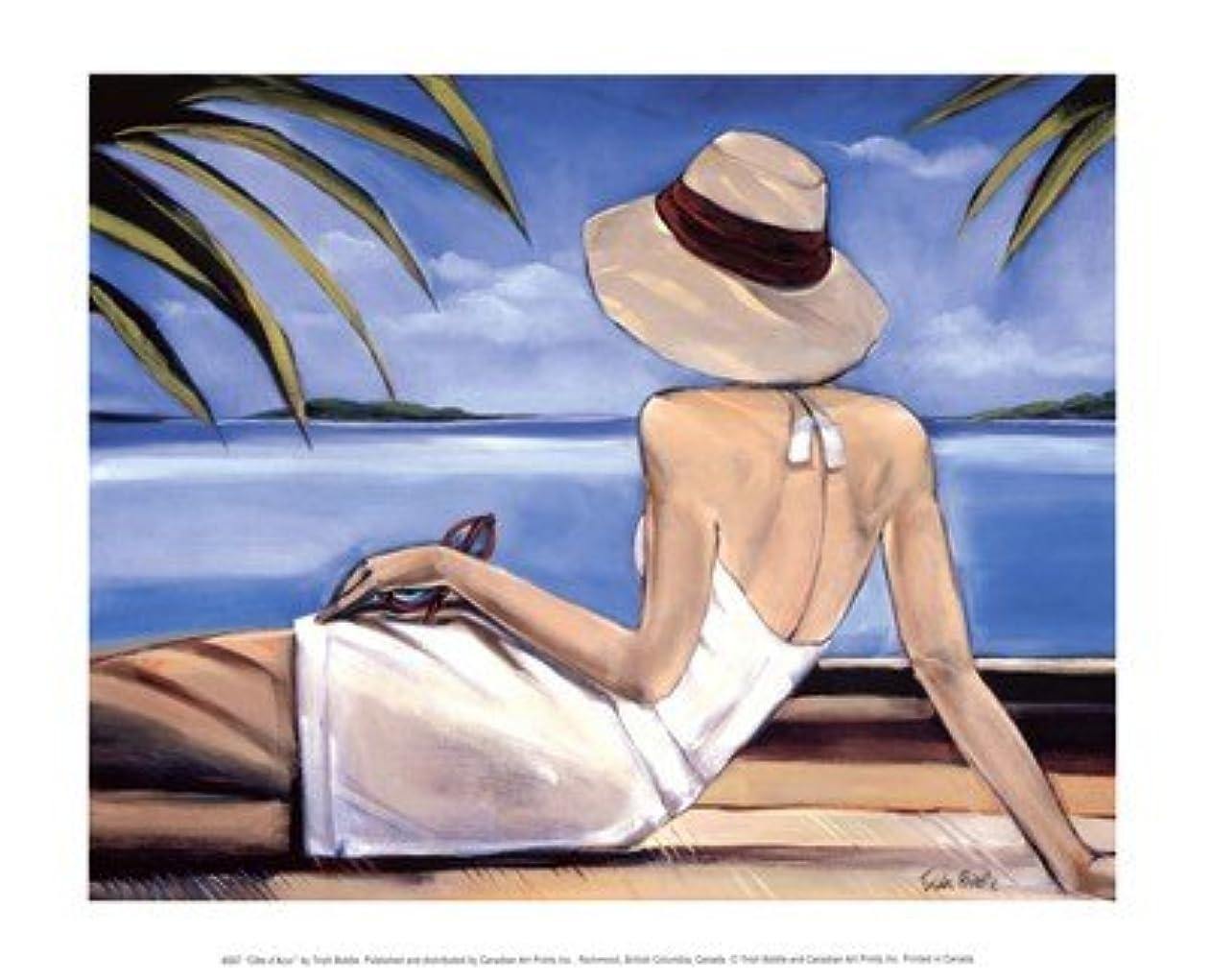 泥示す処方Cote D ' Azur by Trish Biddle?–?11.75?X 9.5インチ?–?アートプリントポスター LE_57851