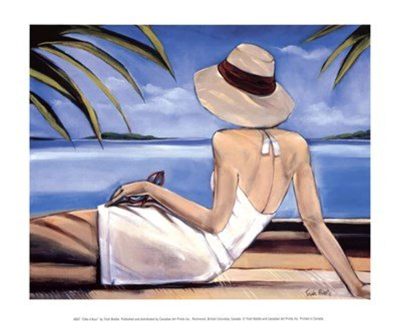 Cote D ' Azur by Trish Biddle?–?11.75?X 9.5インチ?–?アートプリントポスター LE_57851