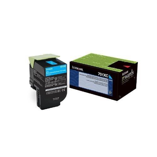 Lexmark Genuine Brand Name, OEM 70C1XC0 (Lexmark 701XC) Return Program Extra High Yield Cyan Toner Cartridge (4K YLD) Photo #9