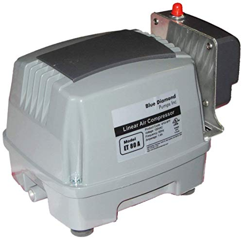 Blue Diamond ETA 80 Septic or Pond Linear Diaphragm Air Pump with built in Alarm