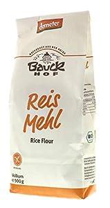 Bauck Hof Harina Integral orgánica De Arroz Sin Gluten, 500 gr