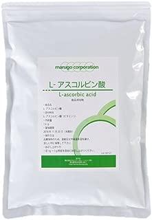 marugo(マルゴ) ビタミンC 粉末 サプリメント (1kg + 計量スプーン付き) L-アスコルビン酸 食品添加物グレード