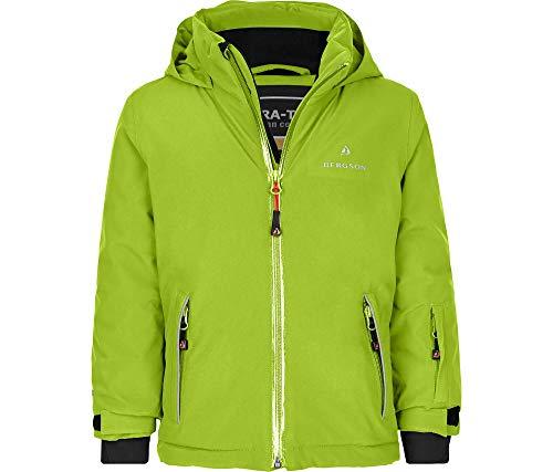 Bergson Kleinkinder Skijacke Frodo, Lime Green [242], 110 - Kinder