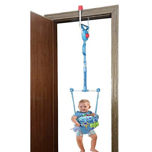 Gofeibao Saltador Bebe Puerta Columpio Bebe Puerta de Seguridad Bebé de Interior Puerta gorilas Puerta de Seguridad para bebés Bebé Puerta Jumper Blue