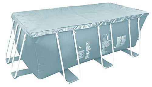 Jilong Pool-Abdeckung rechteckig Abdeckplane für Frame Pool Gr. 300x200 bis 300x207 cm Stahlrohr Schwimmbecken Stahlrahmen Schwimmbad Cover