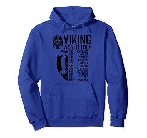 Viking World Tour | Wikinger Welttournee | Mythologie Pullover Hoodie