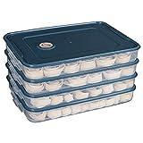 Organizadores nevera 2pc refrigerador doméstico cuadro de ultracongelados de almacenamiento caja de bola de masa bandeja de congelación de alimentos frescos de mantenimiento de wonton huevo de múltipl