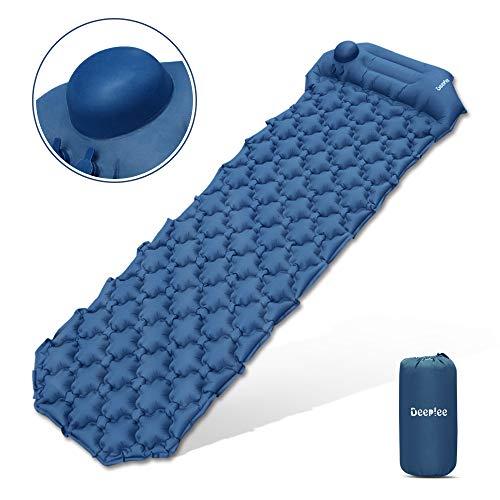 Deeplee Camping Isomatte,Einzelne Schlafmatte Ultraleichte Isomatte für Outdoor,Feuchtigkeitsfes für Wandern,Backpacking,Camping,Strand