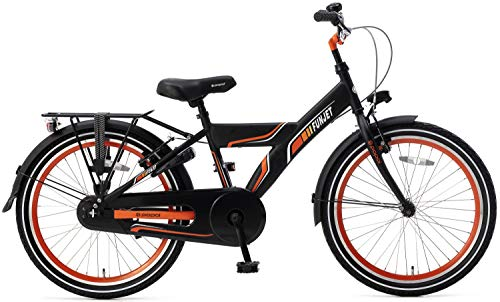 POPAL 22 Zoll Kinder Fahrrad Funjet X 22178 ohne Schaltung, Farbe:schwarz-orange