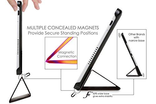 Forefront Cases® Huawei MediaPad T2 10.0 Pro Hülle Schutzhülle Tasche Smart Case Cover Stand - Ultra Dünn mit Rundum-Geräteschutz und intelligente Auto Schlaf/Wach Funktion - inkl. Eingabestift (ROT) - 3