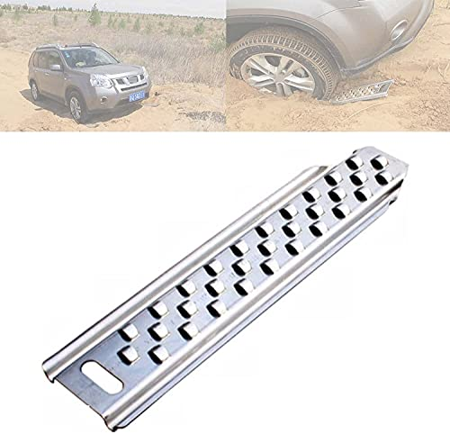 AEGIS light Tire Escaper Traction Mats,Recovery Boards Traction Tracks Mat, Used to Get Your Car, Truck, Van or Fleet Vehicle Unstuck in Snow, Ice, Mud, and Sand 2 Pack,SilverA (Color : Silverc)