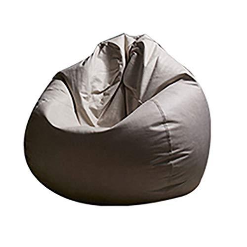 HZW Sitzsack-Sitzbezug (ohne Füllstoff) für Erwachsene und Kinder Wasserdichter Stoff zur Organisation von Plüschtieren und Memory-Schaum für Kinder,F,47.2 x47.2 inch