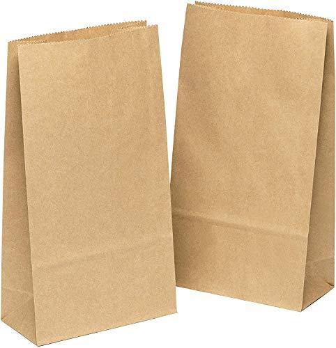 kgpack 100 x Bolsas de Papel Kraft DIY 9 x 16 x 5 cm | Bolsas de Papel Kraft para niños | Calendario de adviento | Bolsa de Regalo de Fondo Plano | Bolsa de Papel de Alimentos, Calendario de Adviento