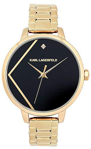 Karl lagerfeld Jewelry Klassic Damen Uhr analog Quarzwerk mit Edelstahl Armband 5513097