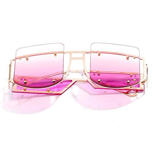 Jbwlkj Niet Vintage Sonnenbrillen Frauen Sonnenbrillen Männer Mode Big Frame Retro Sonnenbrillen Rihanna Brillen für Frauen-2_United_States