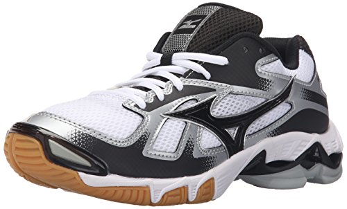 Mizuno Women's Wave Bolt 5-W Volleyball Shoe, White/Black, 6.5