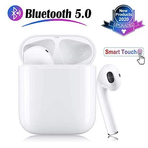 Bluetooth Kopfhörer 5.0 Drahtlose Ohrhörer 3D Stereo IPX7 Wasserdichtes Popup-Fenster Automatisches Pairing Schnelles Aufladen Smart Touch,Sportkopfhörer für